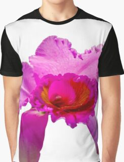 Beautiful Pink Orchid Flower Graphic T-Shirt