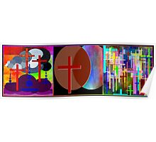 Cross Intersection ~ Triptych Poster