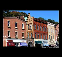 Main Street Buildings - Northport, New York  by © Sophie W. Smith