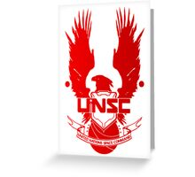 UNSC Red Greeting Card