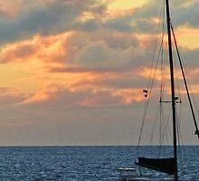 Harbor sunset by Linda Sparks