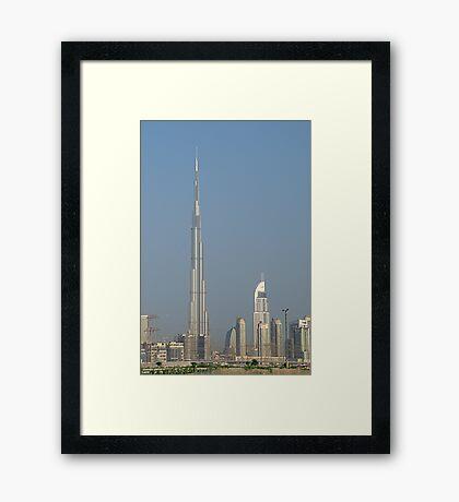 Burj Khalifa from Maydan Framed Print