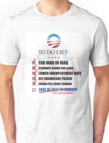 Obama Accomplishments Tee Unisex T-Shirt