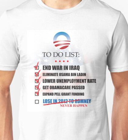 Obama Accomplishments Tee Unisex T-Shirt