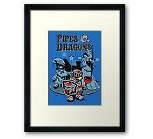 PIPES & DRAGONS Framed Print