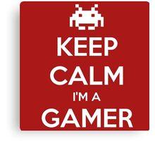 Gamers Keep Calm (Final Version) Canvas Print