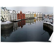 Alesund Harbour, Norway Poster