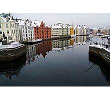 Alesund Harbour, Norway Photographic Print