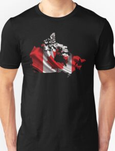 Canada Flag Map T-Shirt