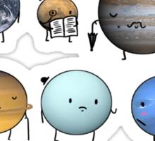 Classy Planets  Sticker