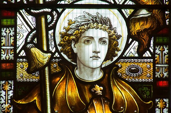 St George In Glass by Dave Godden