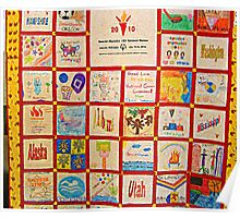 Special Olympics National Games 2010 States Quilt Poster