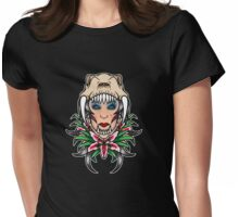 Sabretooth tiger lily Womens Fitted T-Shirt