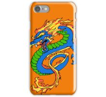 Dragon Orange Background iPhone Case/Skin