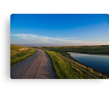 Lonely gravel road Canvas Print