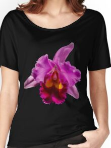 Beautiful Pink Orchid Flower Women's Relaxed Fit T-Shirt