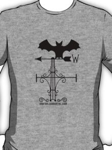 Haunted Mansion Bat Weather Vein by Topher Adam for Hugs & Bitchslaps T-Shirt
