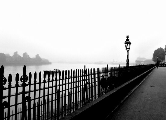 Fog on the Thames by Karen Martin