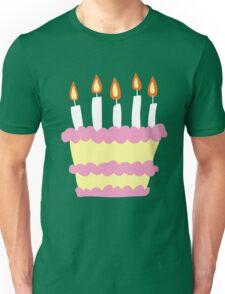 Pink White Birthday Cake Unisex T-Shirt