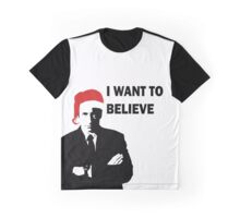 Fox Mulder Wants to Believe in Santa Graphic T-Shirt