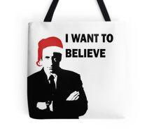 Fox Mulder Wants to Believe in Santa Tote Bag