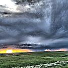 Prairie Squall at Sunset by Scott Hendricks