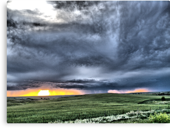 Prairie Squall at Sunset by Scott Hendricks