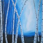 Birch Tree Blues by Pamela Burger
