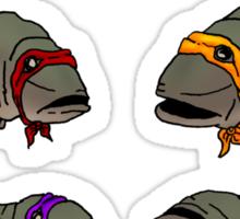 Teenage Mutant Ill-Tempered Sea Bass Sticker