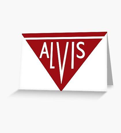 Alvis automobiles classic car logo remake Greeting Card