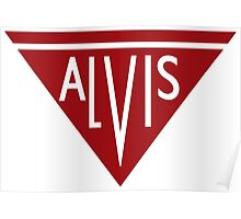 Alvis automobiles classic car logo remake Poster