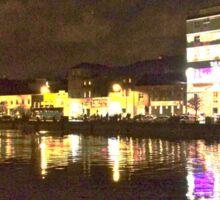 Moonlit night on Merchant´s Quay 001 Sticker