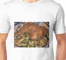 Slow Roasted Chicken on Cauliflower with Zuchini Accents Unisex T-Shirt