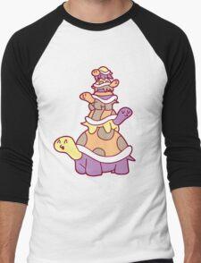 Cute Turtle Stack Men's Baseball ¾ T-Shirt