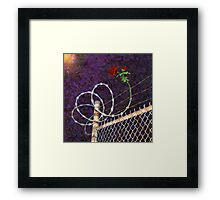 Rose and Thorn Framed Print