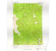 USGS Topo Map Washington State WA Willard 244714 1957 62500 Poster