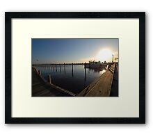 Raising Sun Framed Print