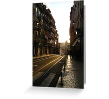 Sunset in Lisbon Greeting Card
