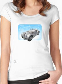 1936 Vintage BMW 328 Roadster  Women's Fitted Scoop T-Shirt