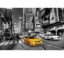 Times Square Taxi  Photographic Print