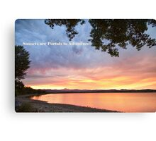 Sunsets are Portals  Canvas Print