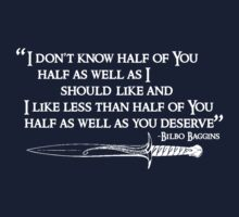 "Lord Of The Rings - ""Bilbo Quote"" (White) by FabFari"