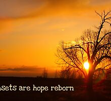 Sunsets Are Hope by wisdomwords