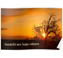 Sunsets Are Hope Poster