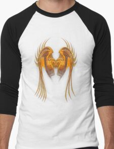Gold Wire Wings Men's Baseball ¾ T-Shirt