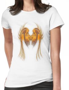Gold Wire Wings Womens Fitted T-Shirt
