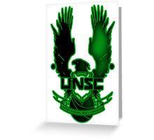 UNSC Green Fade Green Greeting Card
