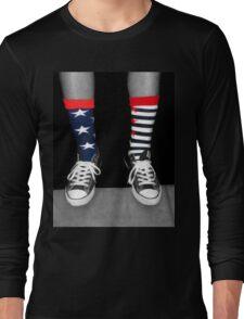 Patriotic Socks Long Sleeve T-Shirt