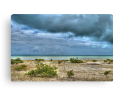 Storm over St Andrews Beach at Yamacraw in Nassau, The Bahamas Canvas Print