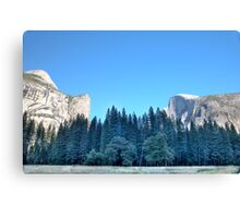 Between The Giants Canvas Print